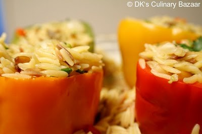 Stuffed Bell Peppers with Orzo